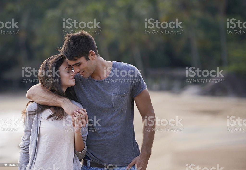 Whispering sweet nothings stock photo