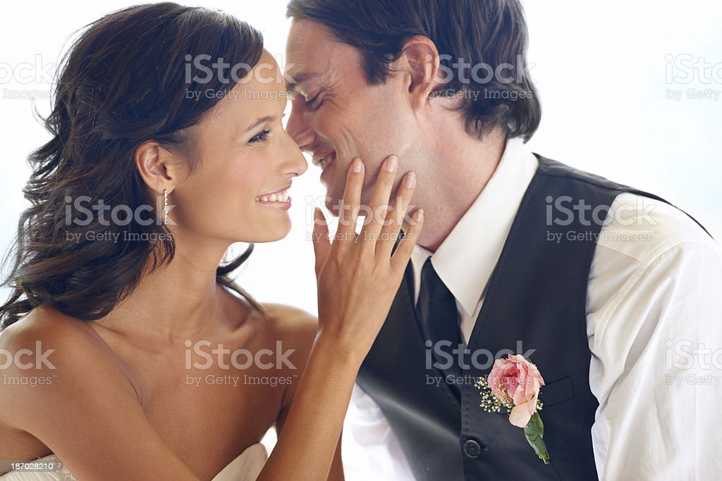 Whispering sweet words royalty-free stock photo