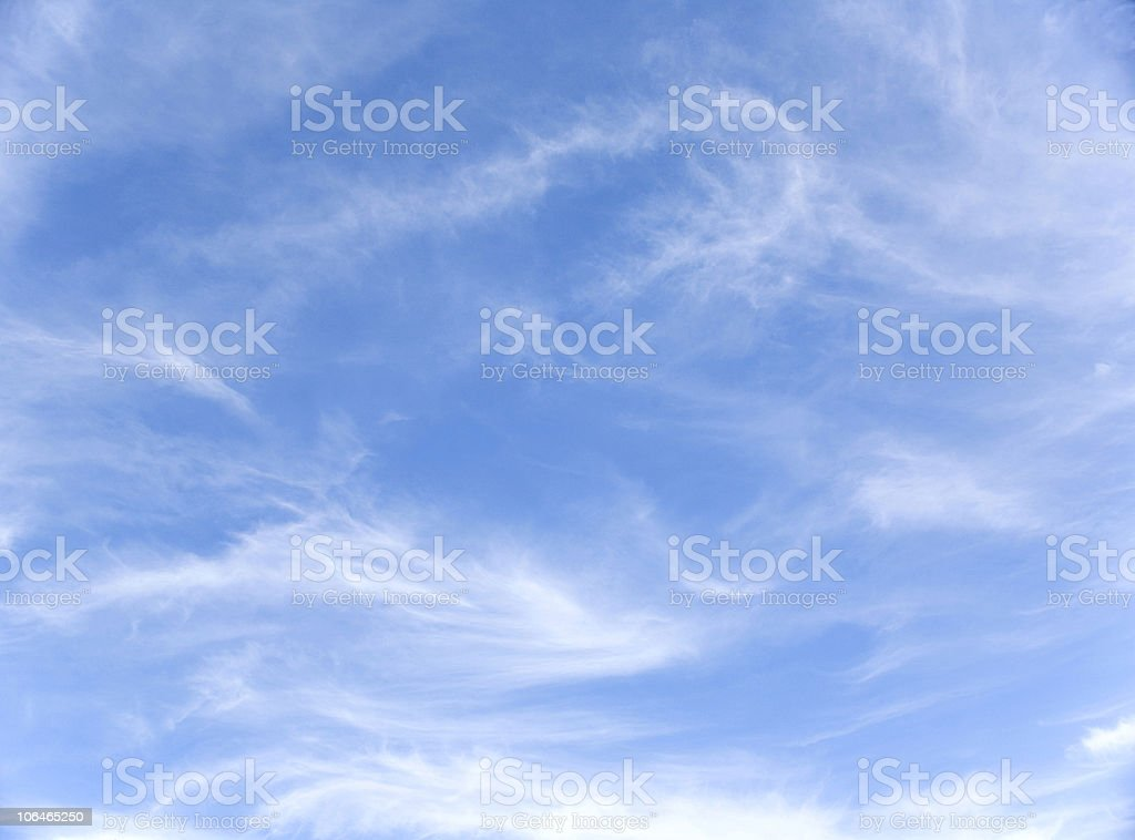 Whispy Clouds royalty-free stock photo