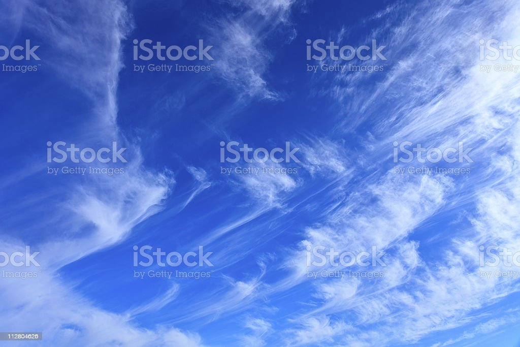 Whispy clouds stock photo