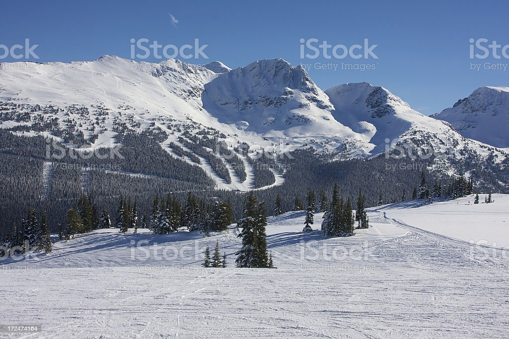 Whister-Blackcomb in Canada stock photo