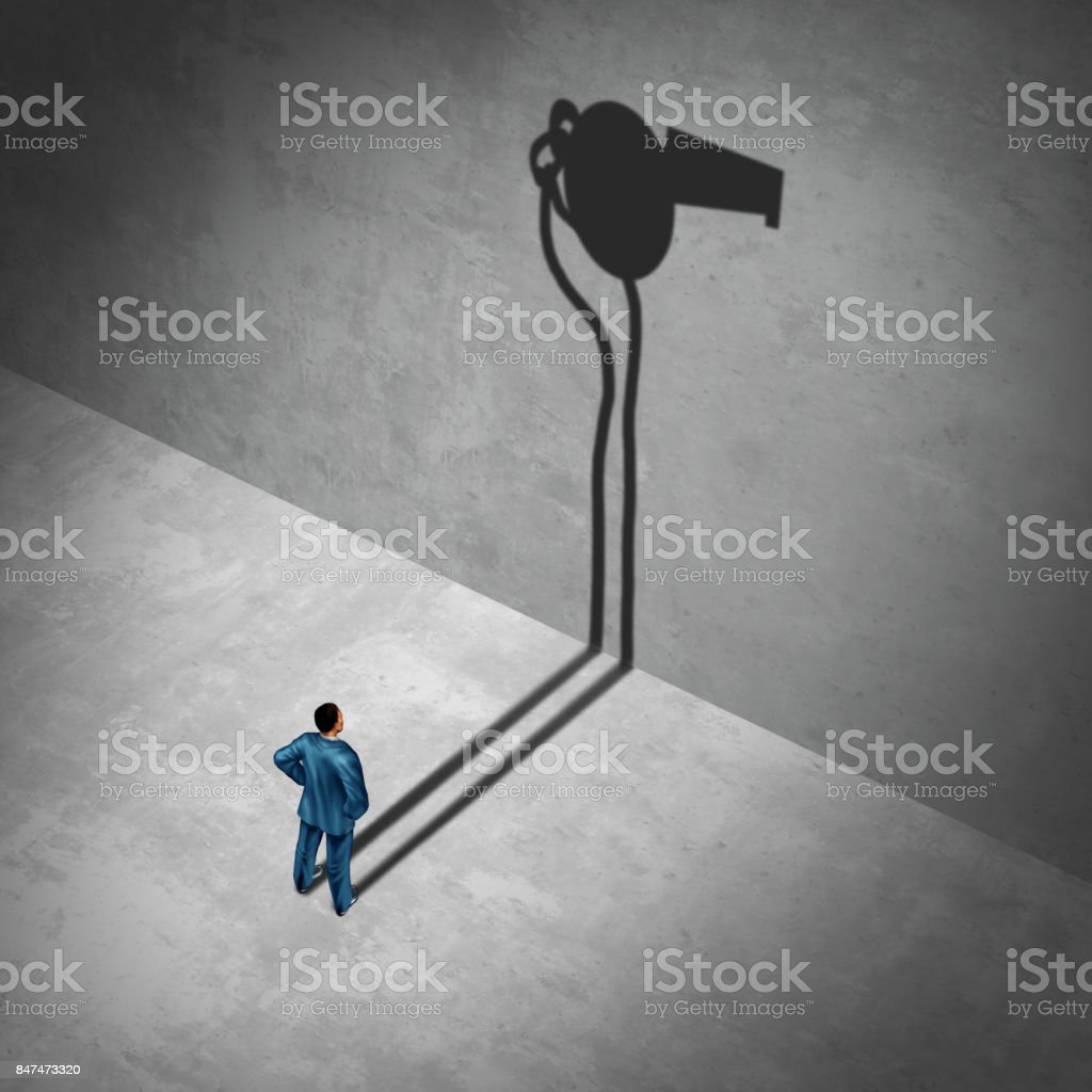 Whistle blower Employee stock photo