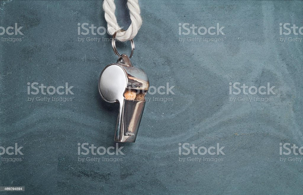 whistle of a soccer referee, stock photo
