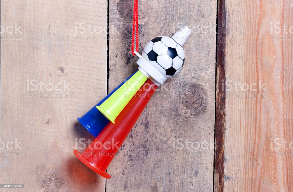 Whistle sports fan . stock photo