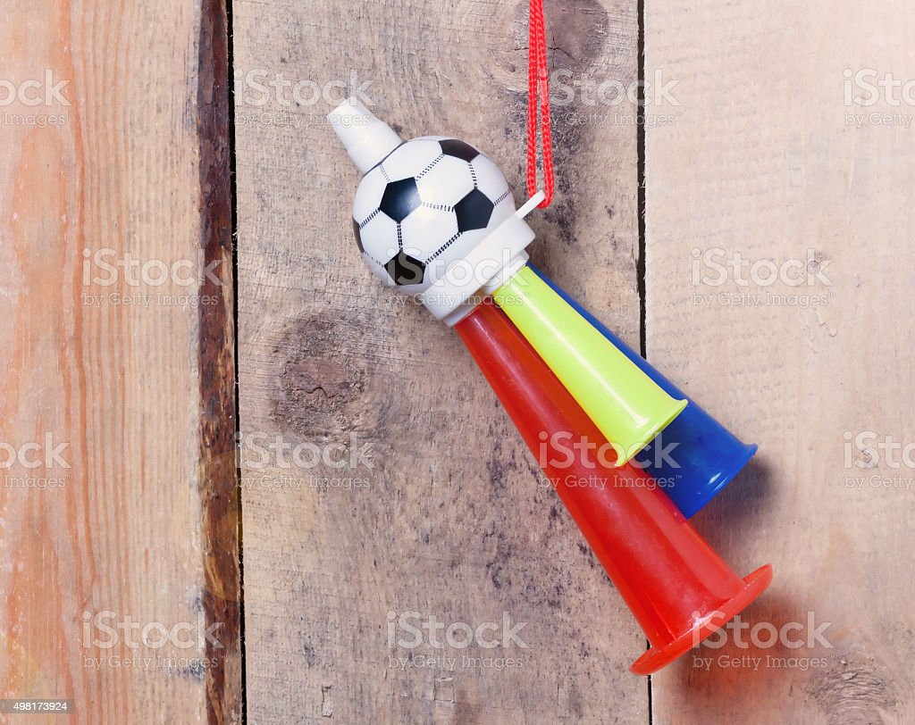 Whistle sports fan.toned stock photo
