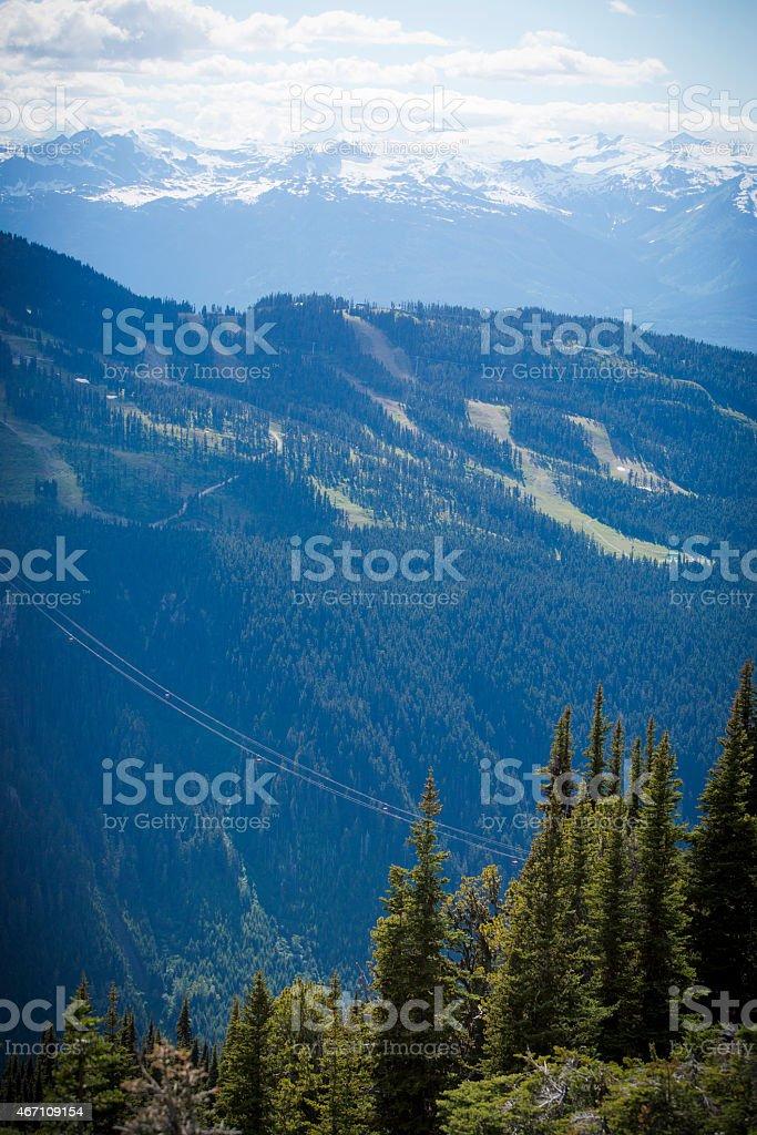 Whistler Blackcomb in summer. stock photo
