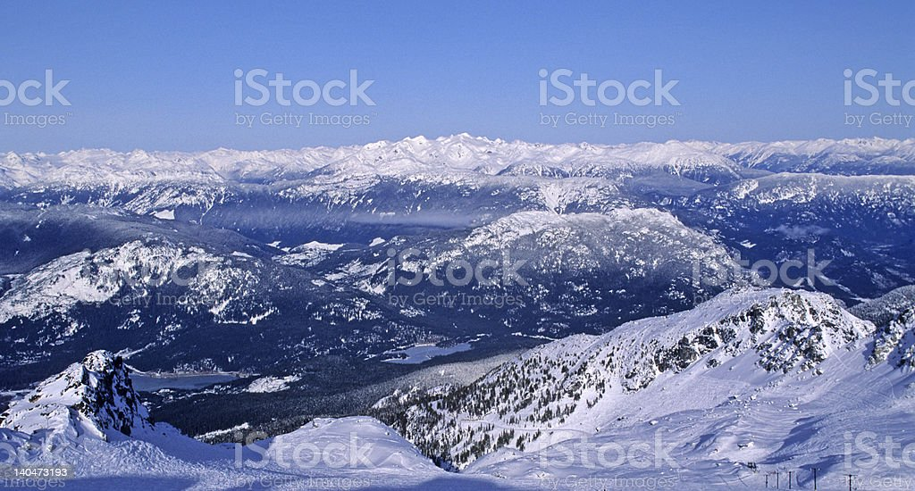 Whistler Blackcomb ski area site of 2010 Winter Olympics stock photo