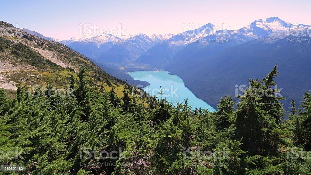 Whistler - Hiking Whistler Mountain stock photo