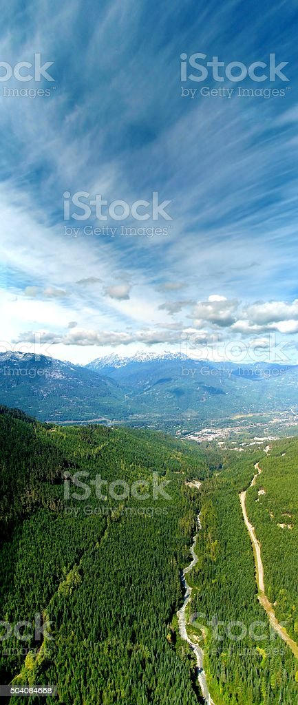 Whistler in summer. British Columbia. Canada. stock photo
