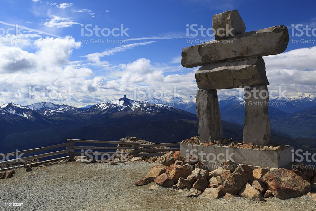 Whistler Inukshuk royalty-free stock photo