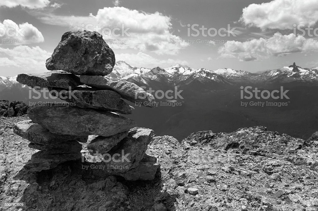 Whistler landscape with rocks and mountains. British Columbia. C stock photo