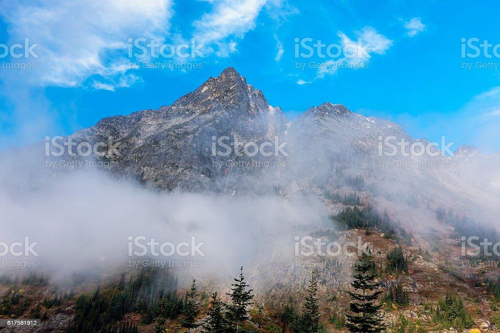Whistler Mountain in the Washington Cascades. stock photo