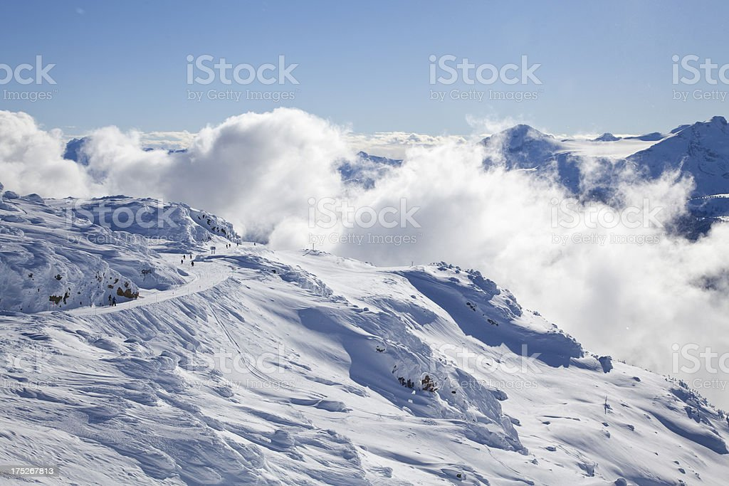 Whistler Mountain Mist and Snow royalty-free stock photo