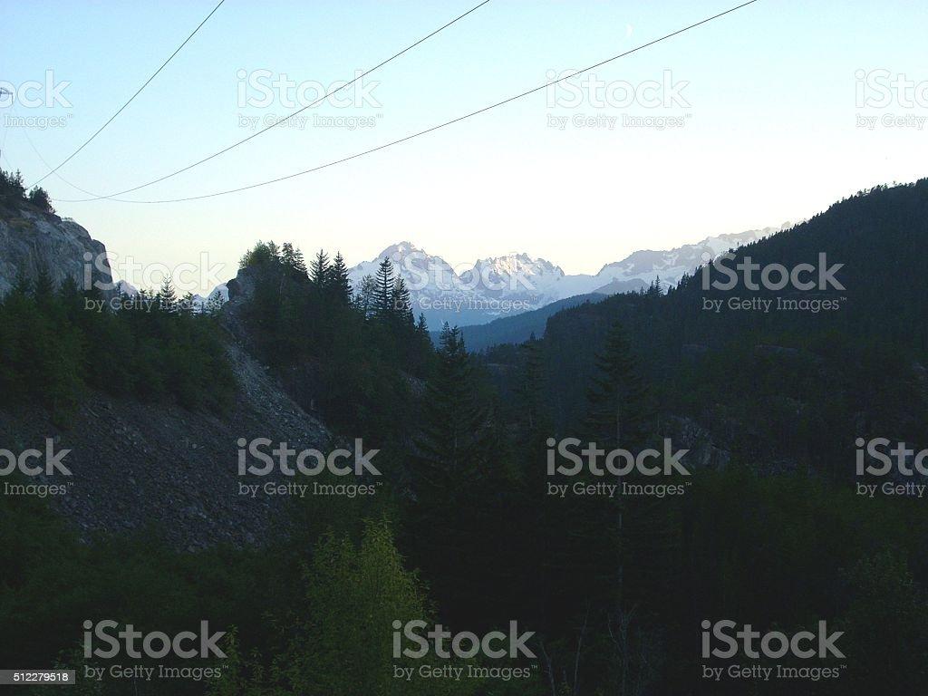 Whistler Mountain Tops stock photo