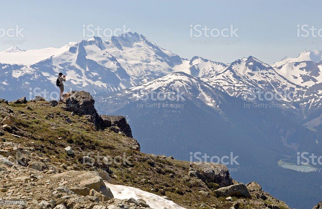 Whistler Mountian - Hiker Photographer stock photo