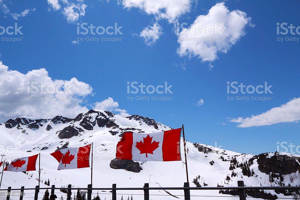 Whistler Peak stock photo