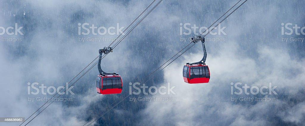 Whistler ski resort in winter stock photo