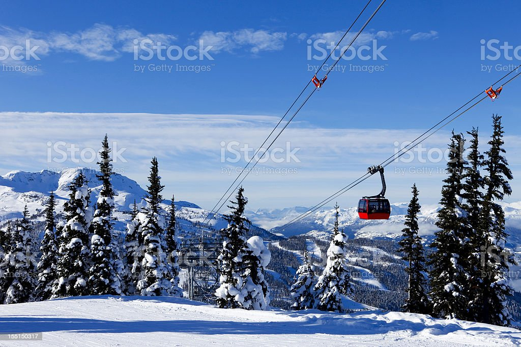 Whistler ski resort. stock photo