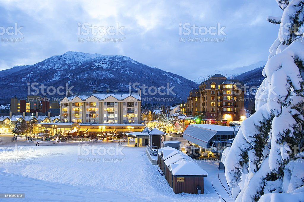Whistler Village royalty-free stock photo