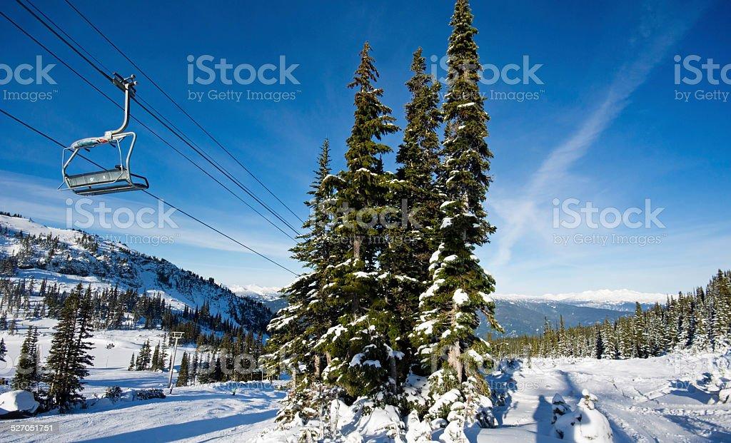 Whistler Winter Landscape stock photo
