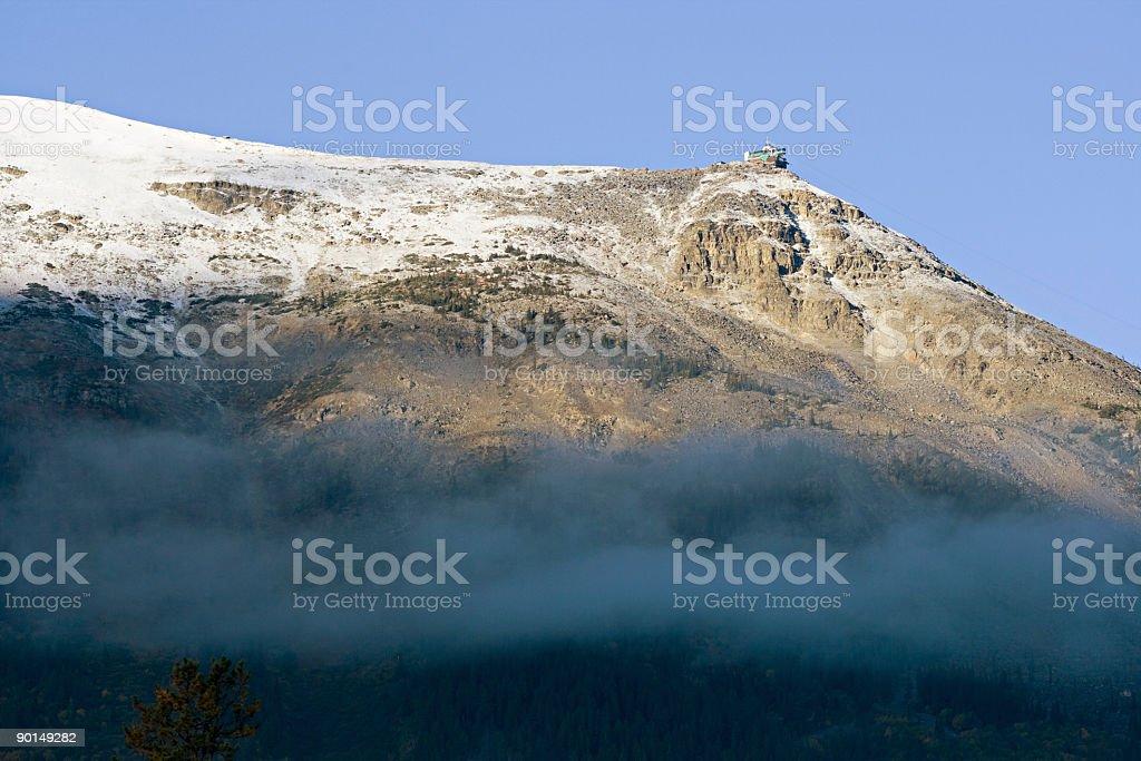 Whistlers Mountain, Jasper, Alberta stock photo