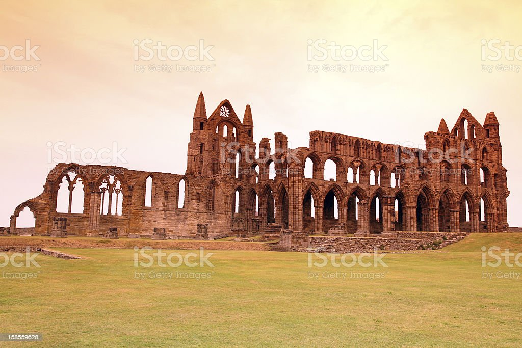 Whitby Abbey castle royalty-free stock photo