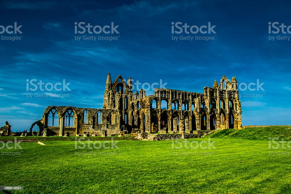 Whitby Abbey detail royalty-free stock photo