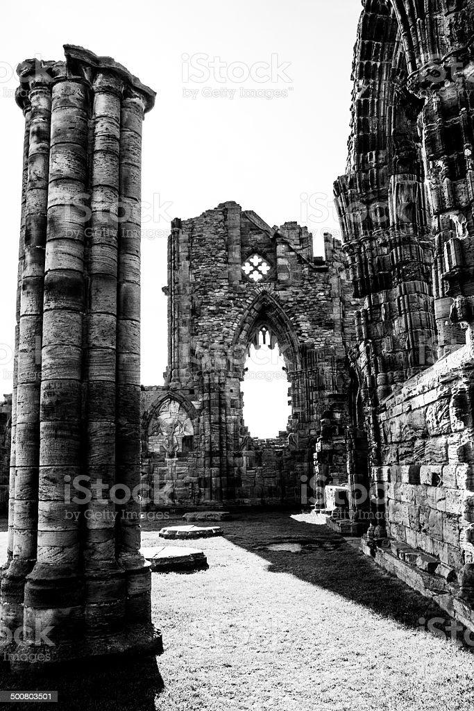Whitby Abbey detail royalty-free stock photo
