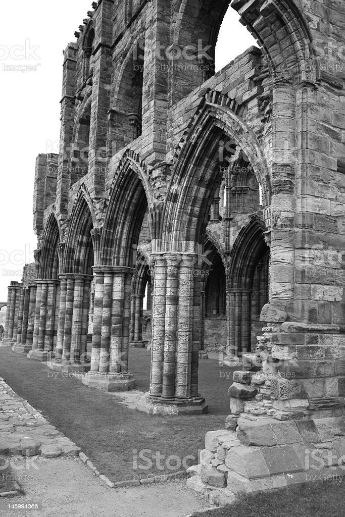 Whitby Abbey in Black & White stock photo