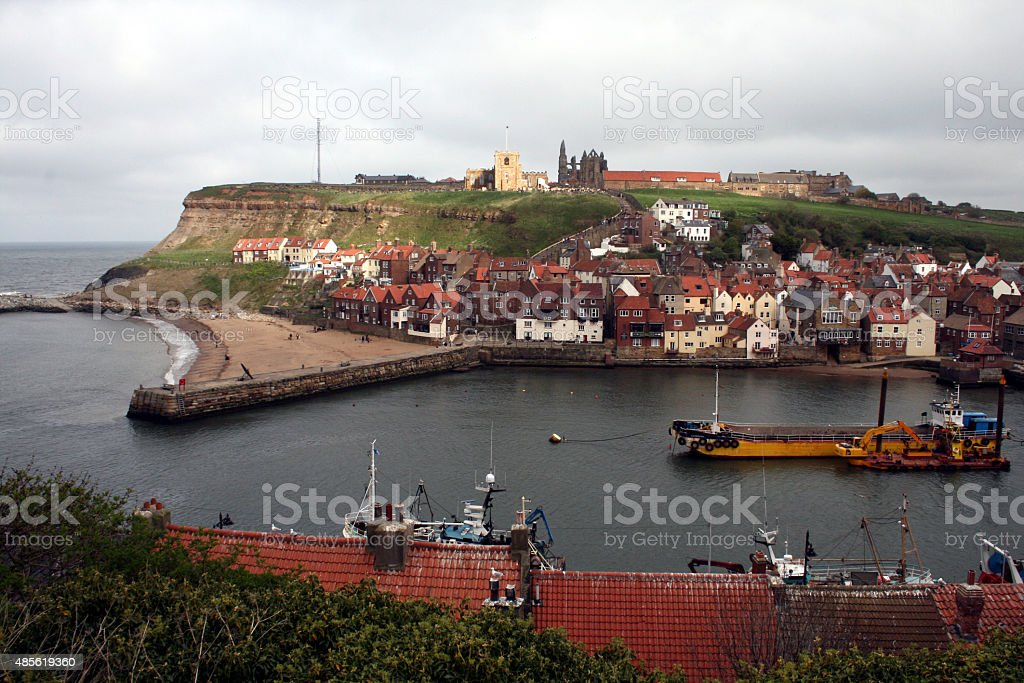 Whitby Bay Yorkshire stock photo