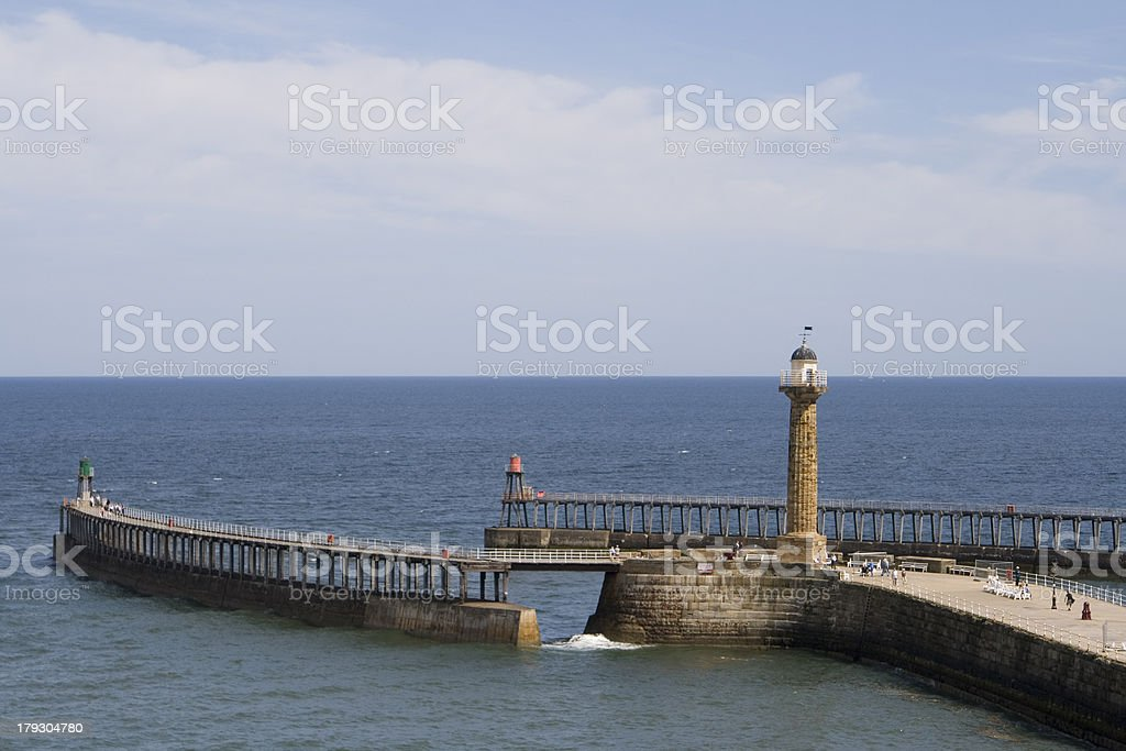 Whitby Harbour on a summer day royalty-free stock photo