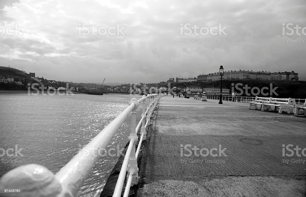 Whitby Harbour royalty-free stock photo