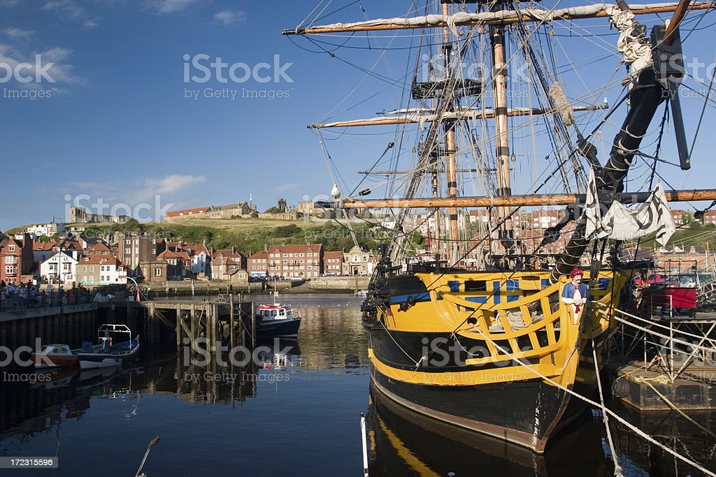 Whitby harbour, Yorkshire, England stock photo