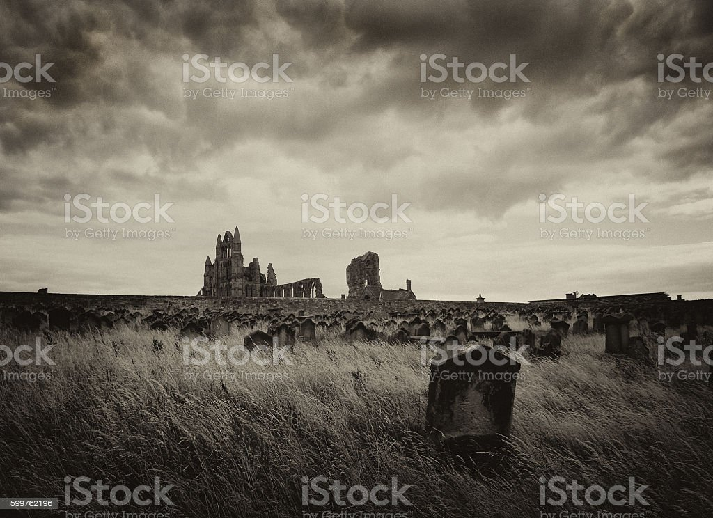 Whitby in North Yorkshire stock photo