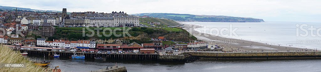 Whitby panorama stock photo