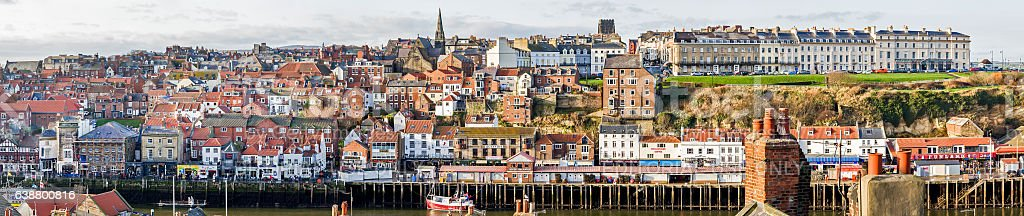 Whitby Pier, North Yorkshire. stock photo
