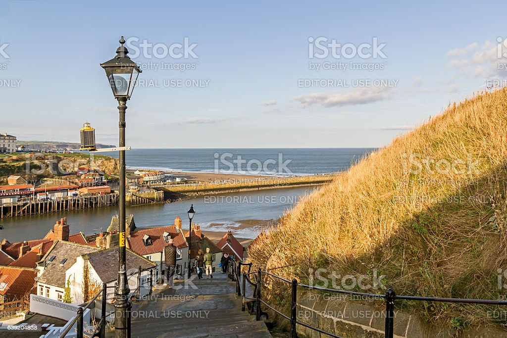 Whitby Steps stock photo