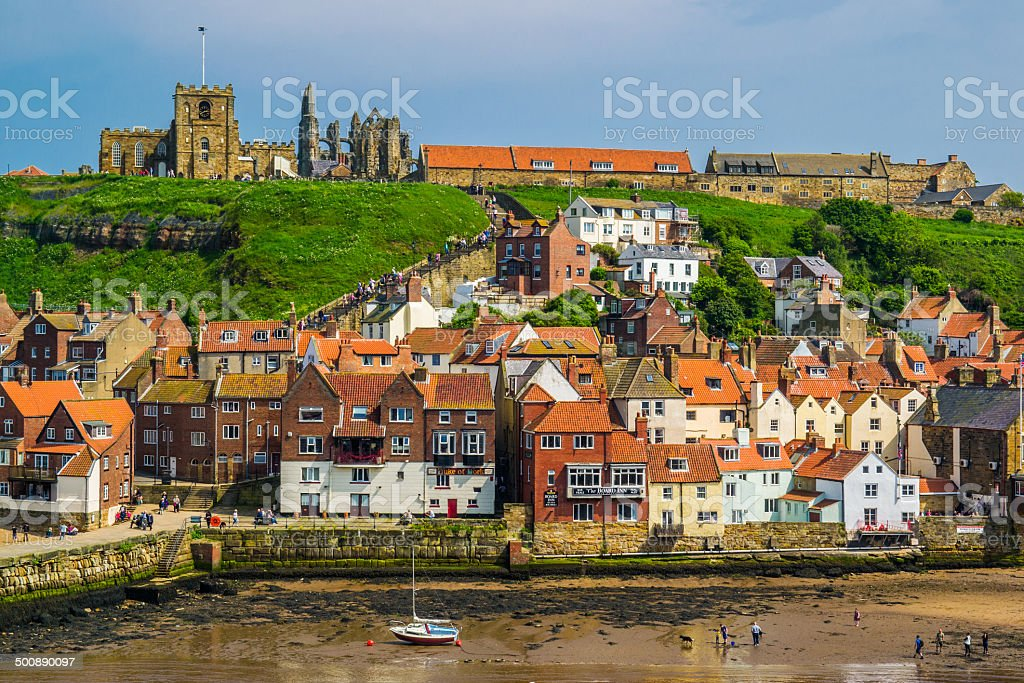 Whitby view stock photo