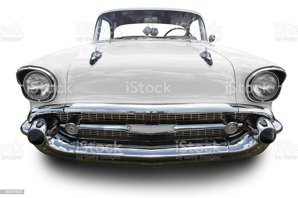 White 1957 Chevrolet Bel Air stock photo