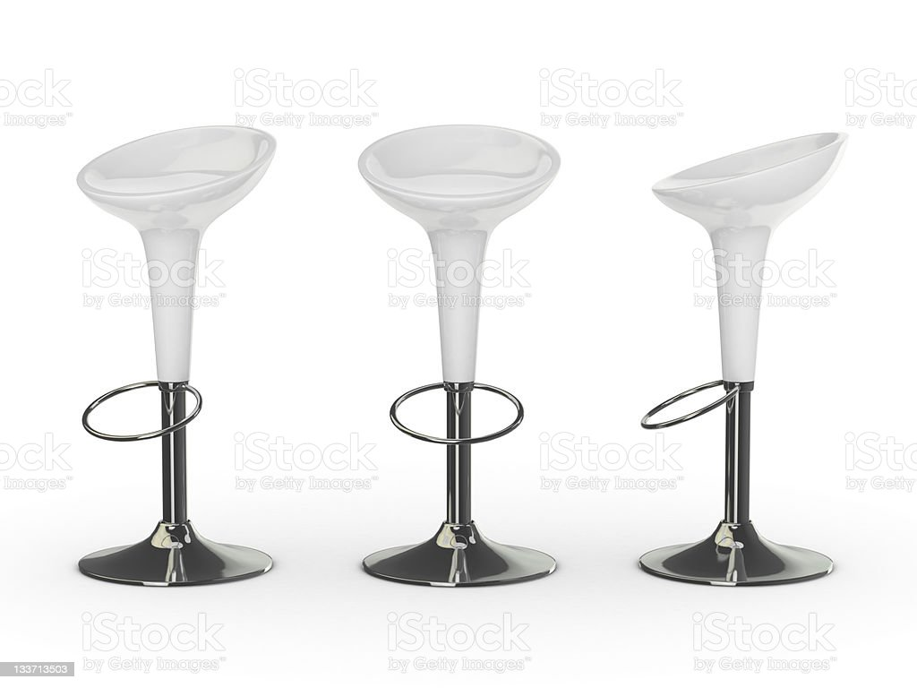white 3d bar chair royalty-free stock photo