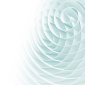 White 3d spirals with soft light blue shadows