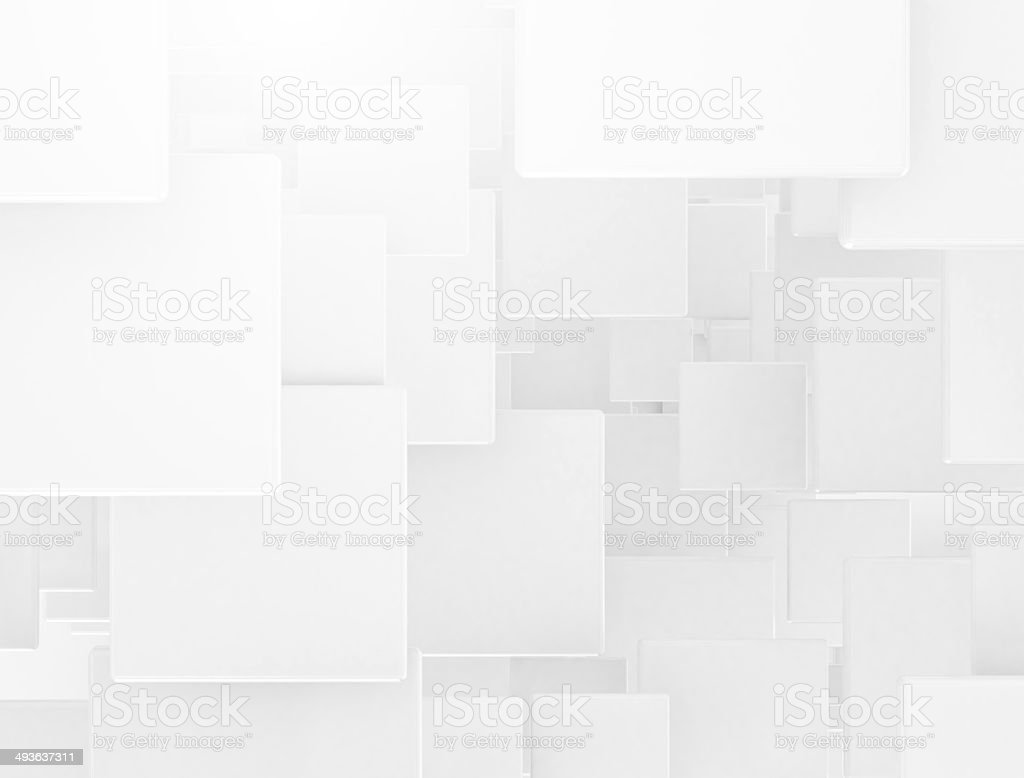 White 3d squares background stock photo