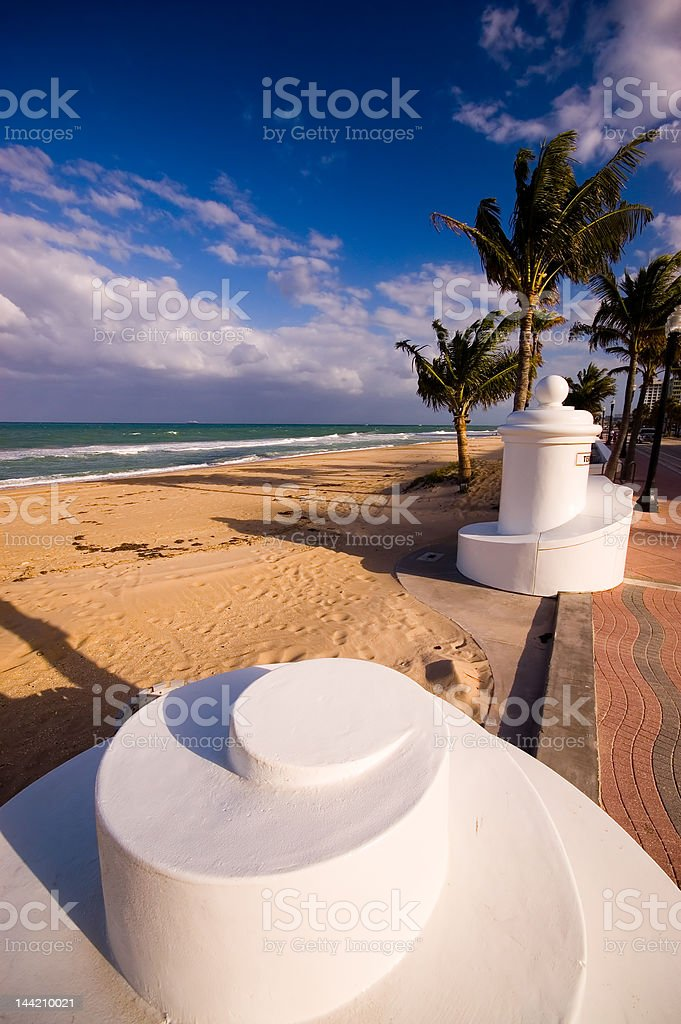White abstract on beach stock photo