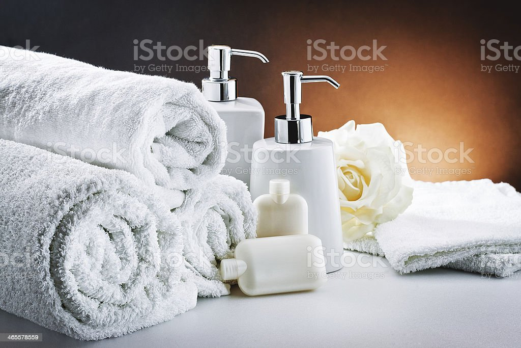 white accessories bathroom hygiene stock photo