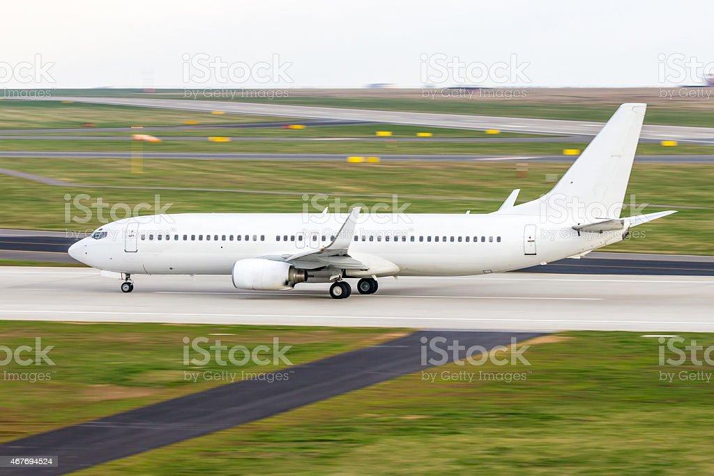 White aircraft stock photo
