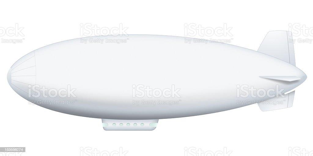 A white airship on a white background stock photo