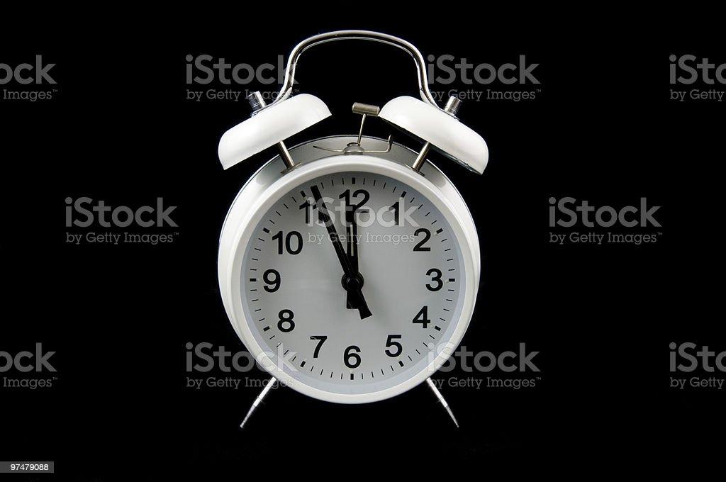 alarmclock blanc photo libre de droits