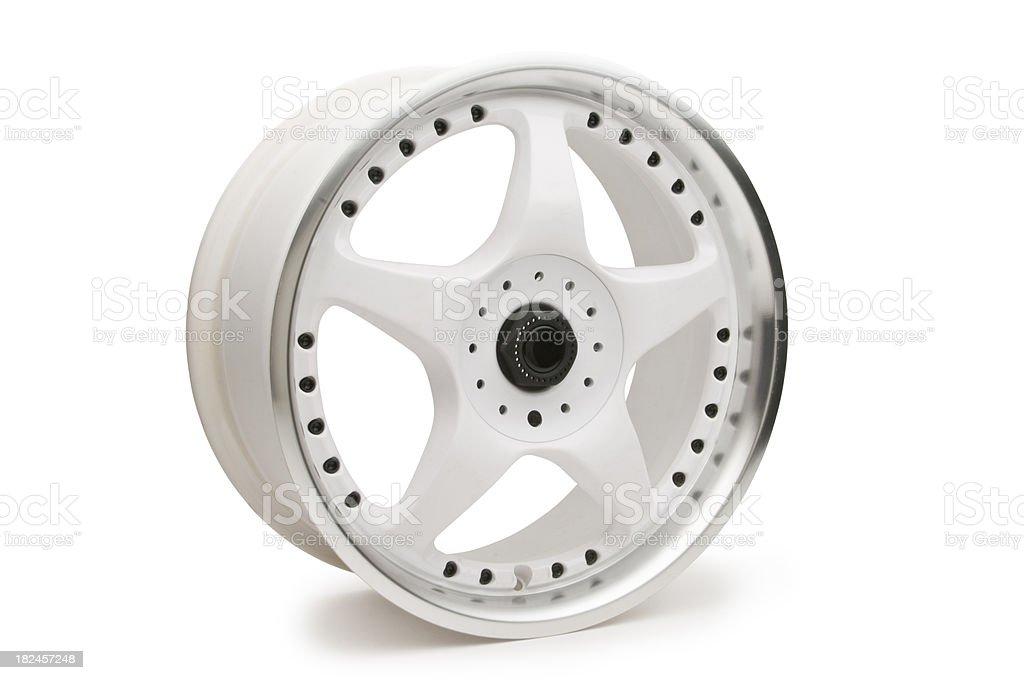 White Alloy Wheel royalty-free stock photo