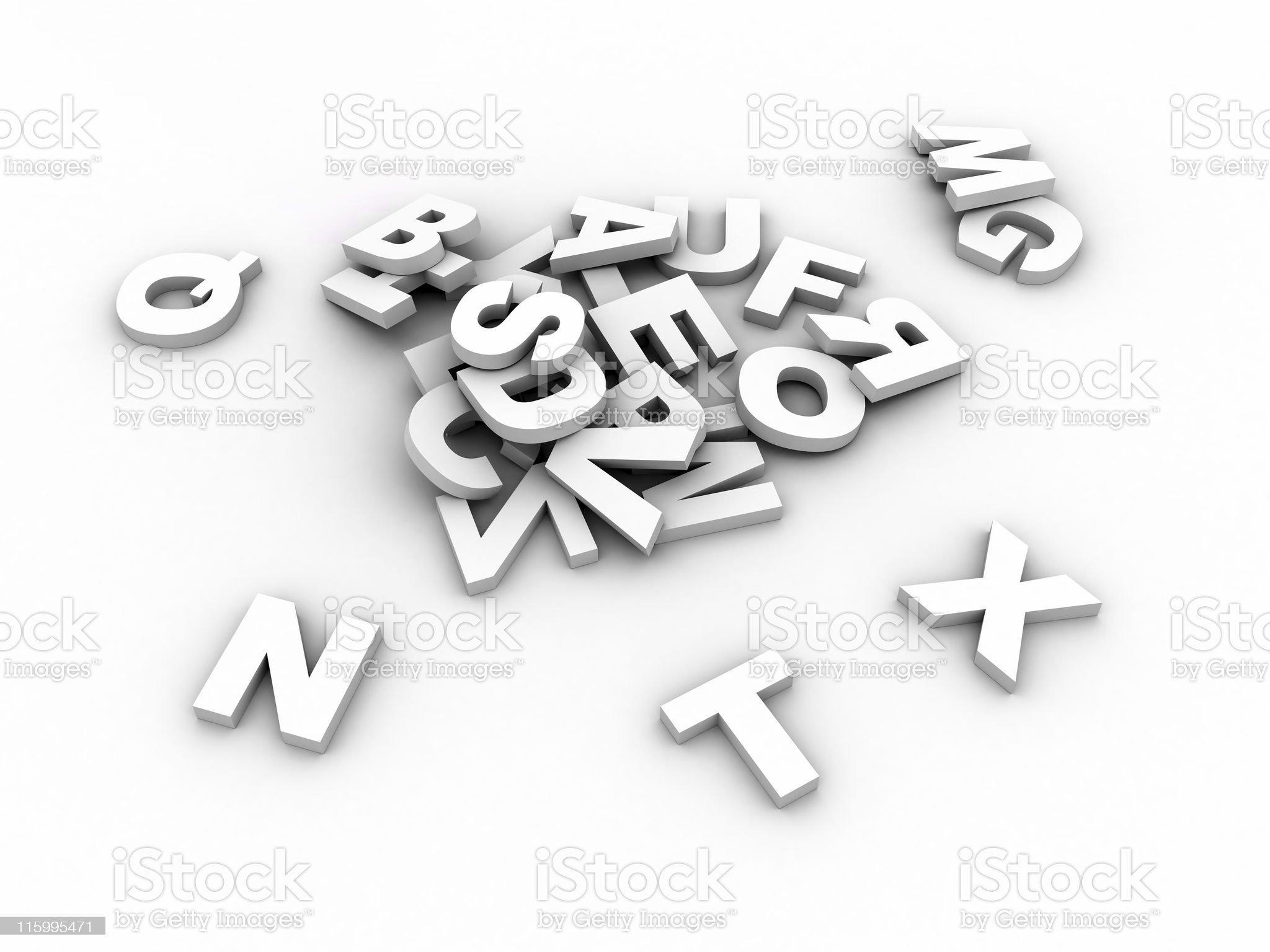 White alphabet royalty-free stock photo