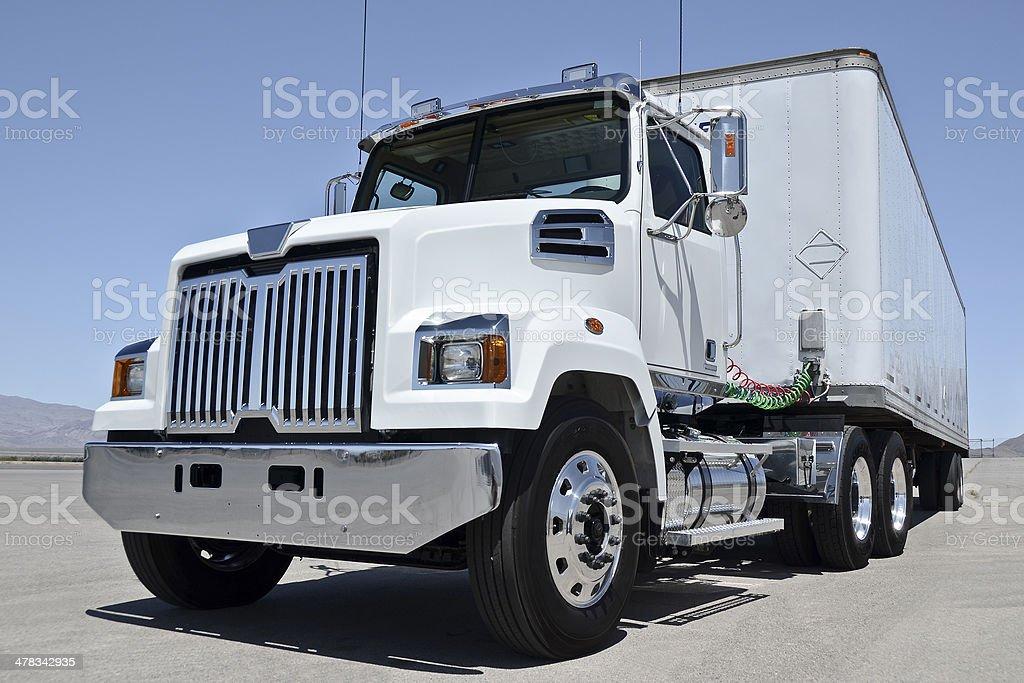 White american truck stock photo